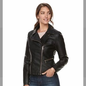Apt. 9 Textured Faux-Leather Moto Jacket